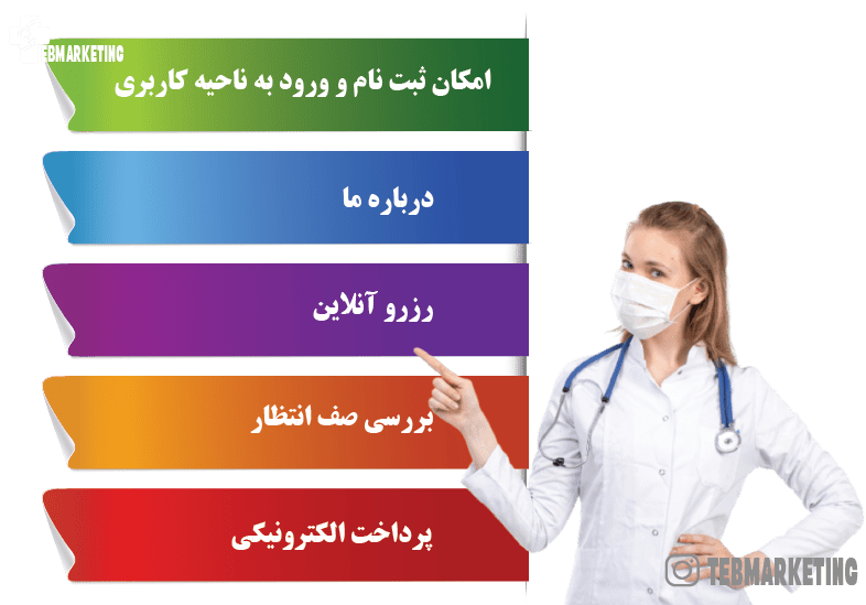 مزایای طراحی وبسایت رزرو آنلاین پزشکی